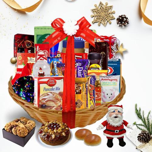 Embrace the Delightful Season Christmas Basket<br>