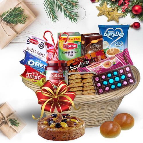 Basketful of Tasty Christmas Bites<br>