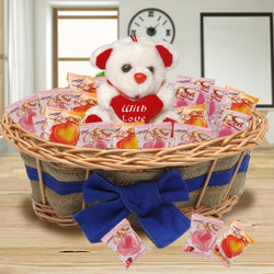 Spectacular Combo of Teddy and Chocolates