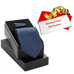 Astonishing Present of Mainland China Gift Voucher of Rs.1000 and Gift Set of Tie-Tiepin