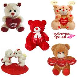 Valentines Day Celebration Gift of Romantic Teddies