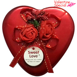Valentines Day Gift of Assorted Handmade Chocolates in a Tin Box