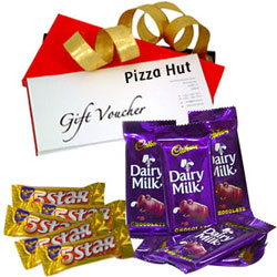 Remarkable Selection of Pizza Hut Gift Voucher with Cadbury 5 Star N Dairy Milk