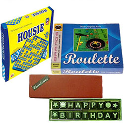 Surprising Handmade Chocolates with Board Games Set