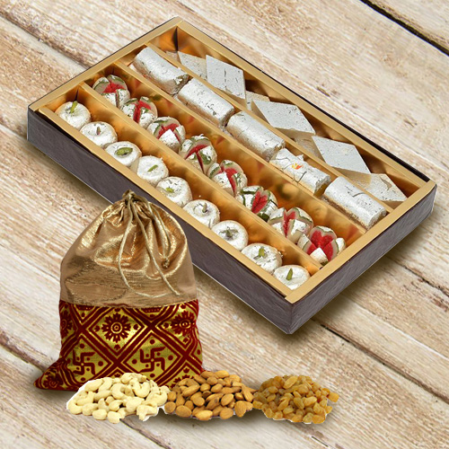Deliver Assorted Haldirams Sweets and Dry Fruits