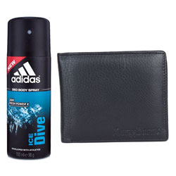 Online Longhorns Leather Wallet and Addidas Deo