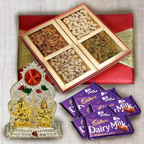 Sending Mixed Dry Fruits with Ganesh Mandap N Chocolates