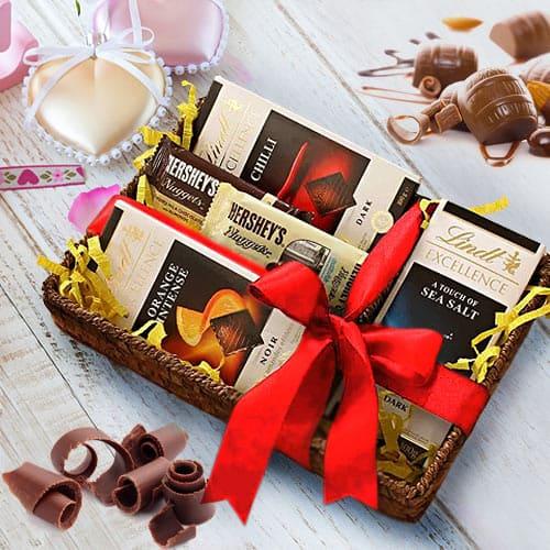 Scrumptious Chocolates Gift Basket
