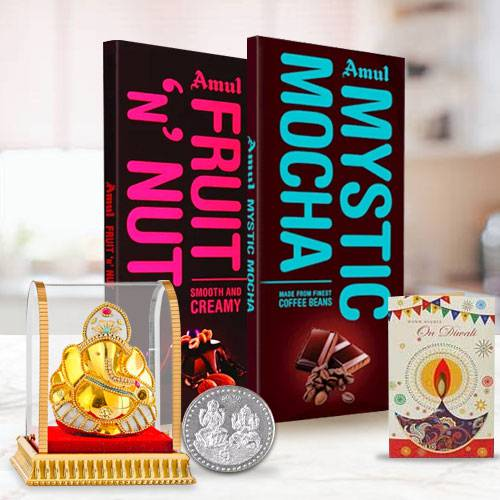 Special Diwali Celebration Pack of Chocolates with Vinayak Murti