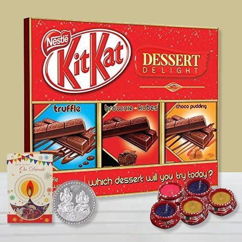 Crunchy Nestle Chocolate Gift Pack with Free Silver Coin N Diyas