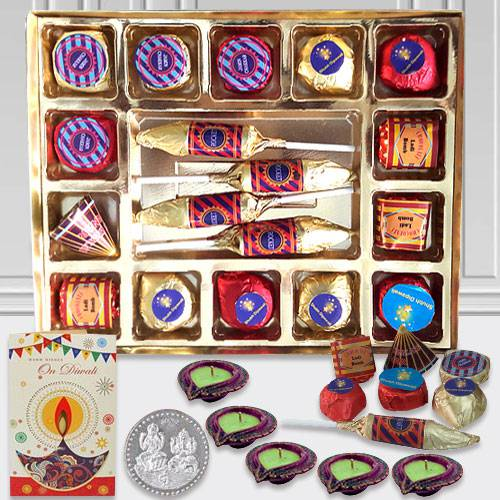 Fabulous Diwali Gift Hamper with Assorted Cracker Shaped Chocolates