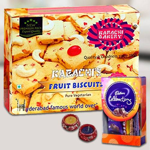Delicious Cookies with Chocolates for Diwali