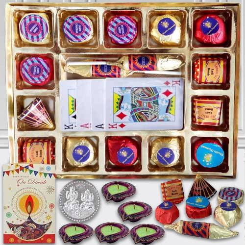 Cracker Shaped Chocolates with Playing Cards