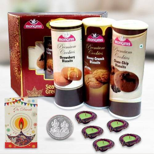 Tasty Cookies Pack with Diya n Card