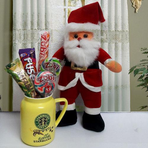 Santa Claus with Chocolates n Coffee Mug