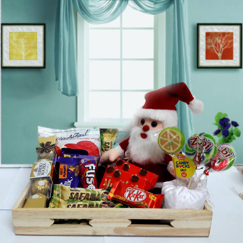 X-Mas Chocolates n Santa Soft Toy