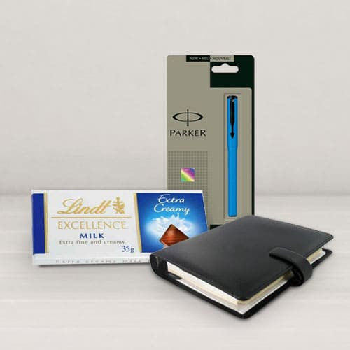 Sending Combo of Planner Dairy with Pen N Chocos