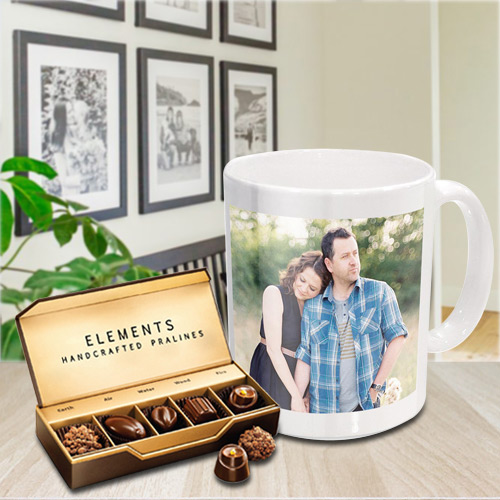Sending Personalized Coffee Mug with Chocolates from ITC