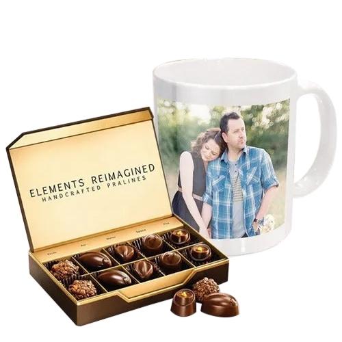 Buy Personalized Coffee Mug with ITC Premium Chocolates