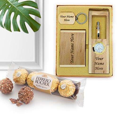 Personalized Desktop Accessory with Ferrero Rocher