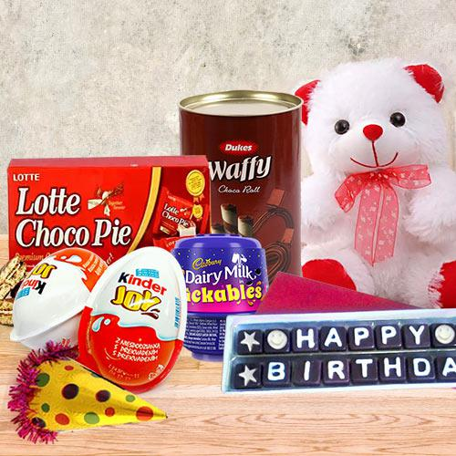 Delicate Chocolate Gift Pack with Birthday Essentials