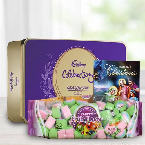 Delicious Cadbury Dairy Milk Rich Dry Fruit Box N Marshmello Pack