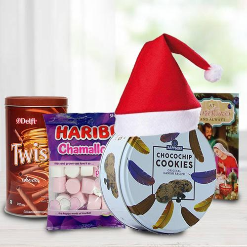 Tasty Cookies, Wafers N Marshmellos Combo for Christmas
