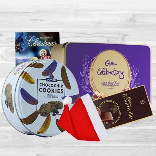 Yummy XMas Chocos N Cookies Gift Combo