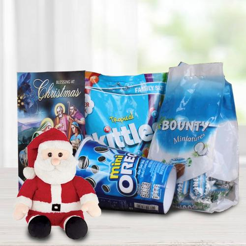 Amazing Chocolates N Santa Soft Toy for Kids