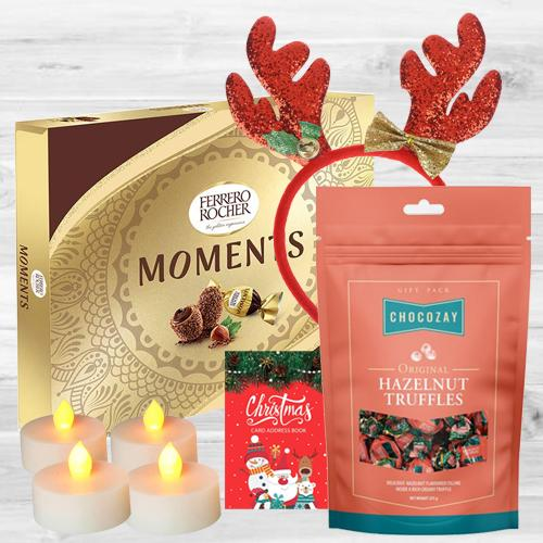Exclusive Chocos n Tea Lights Combo for Christmas