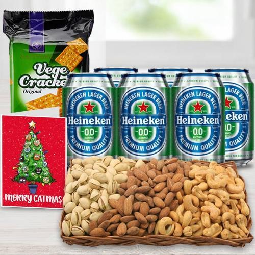 Marvelous Non Alcoholic Beer n Nut Gift Basket