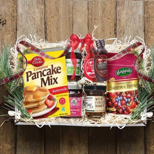 Yummy Pan Cake N Assortments Breakfast Gift Hamper