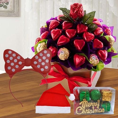 Marvelous Heart Shaped Handmade N Ferrero Rocher Chocos<br>