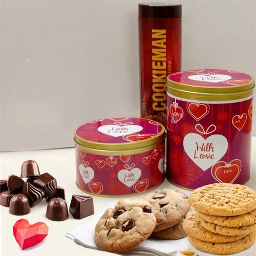 Delicious Imported Cookies N Chocolates Combo
