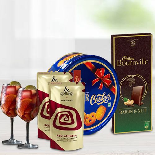 Tasty   N Stirred Red Sangria Cocktail with Wine Glasses