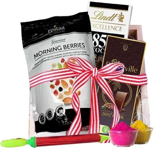 Enticing Chocolates Gift Hamper for Holi