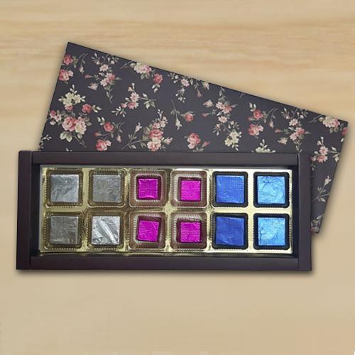 Strawberry, Kiwi n Cranberry Filled Handmade Chocolates Gift Box for Mom