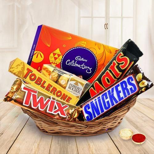 Delectable Chocolates Gift Hamper for Bhai Dooj