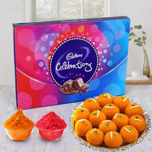 Cadbury Celebrations and Handirams Laddoo Combo