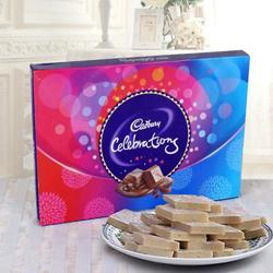 Send Haldirams Kaju Katli and a Box of Cadburys Celebrations to Kerala