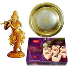 Send Intricate Krishna made of Sandalwood and Sweets Hamper to Kerala