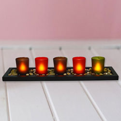 Enigmatic Christmas Candles with Touch of Prosperity