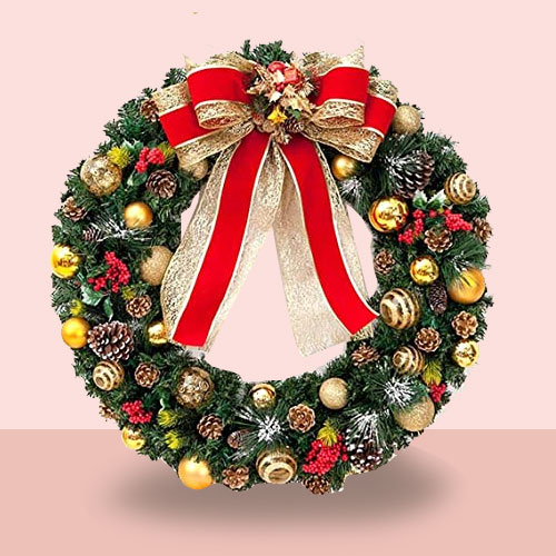Embellished Christmas Wreath