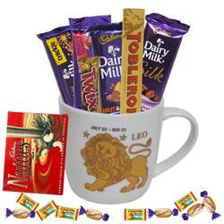 Alluring Leo Sun Sign Printed Mug and Chocolate Hamper