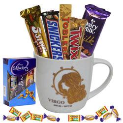Exotic Virgo Sun Sign Printed Mug and Chocolate Hamper