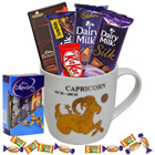 Award-Winning Combination of Chocolates with Capricorn Sun Sign Printed Mug