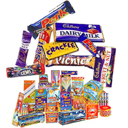 Bewitching Hamper of Assorted Cadbury Chocolates and Crackers