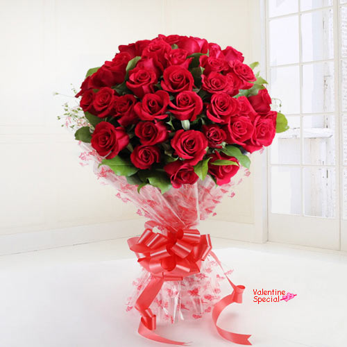 Shop Online Red Roses Bouquet for Rose Day