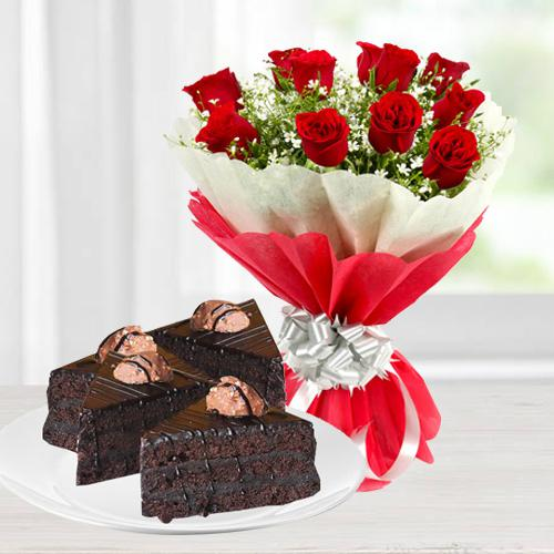 Enthralling Roses and Chocolate Duple
