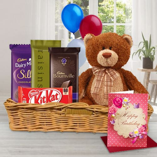Gift Basket of Birthday Gifts N Chocolates